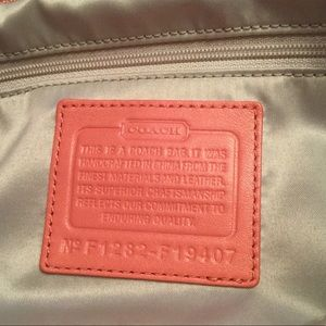 Coach Bags - Coach Coral Perforated Leather Duffle - NWOT